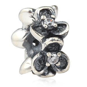 Pandora Clear Crystal Flower Spacer Charm