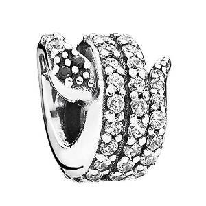 Pandora Coiled Snake Silver Bead Charm