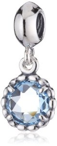 Pandora Cool Breeze Blue Topaz Charm