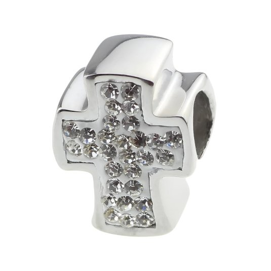 Pandora Cross With Clear Austrian Crystal Charm