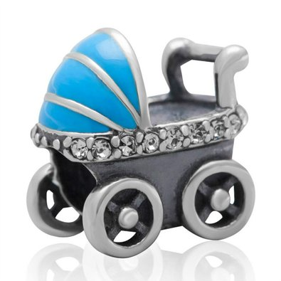 Pandora Crystal Baby Carriages Charm
