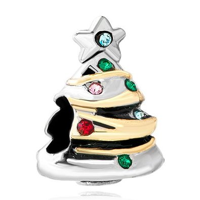 Pandora Crystal Christmas Tree Charm smaller image