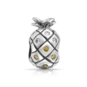 Pandora Cubic Zirconia Pineapple Fruit Charm