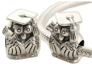 Pandora Cute Owl Sterling Silver Charm