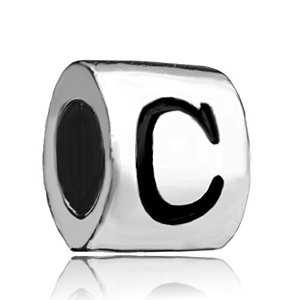 Pandora Cylindrical Shaped Letter C Charm