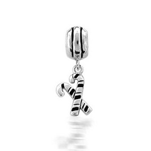 Pandora Dangle Christmas Candy Cane Charm