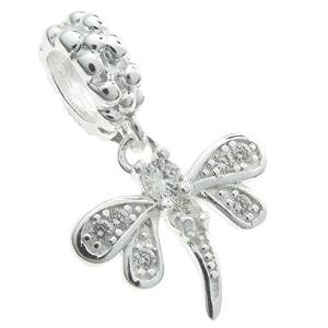 Pandora Dangle Dragonfly Clear Crystal Charm image