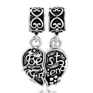 Pandora Dangle Friend Heart Slide On Charm