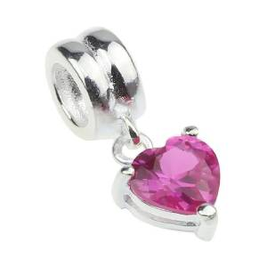 Pandora Dangle Heart Crystal Charm