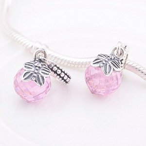 Pandora Dangle Morning Butterfly Rosaline Crystal Charm