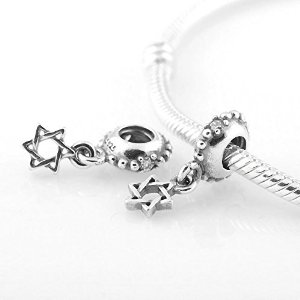 Pandora Dangle Star Of David Clear Crystal Charm