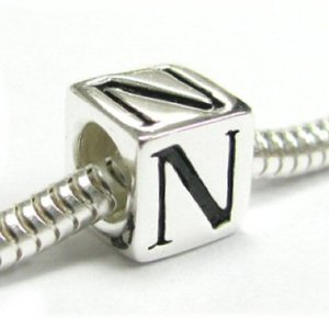 Pandora Dice Cube Letter N Charm