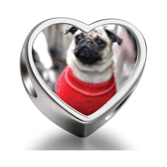 Pandora Dressed Up Pug Photo Charm