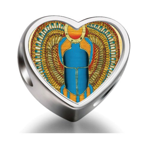 Pandora Egyptian Khepri Heart Photo Charm