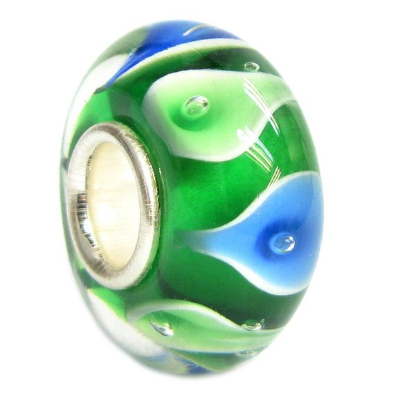 Pandora Emerald Green Life Murano Glass Charm