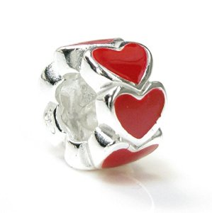 Pandora Enamel Endless Love Red Heart Charm
