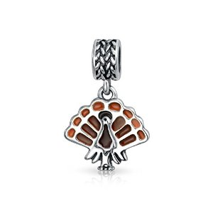 Pandora Enamel Turkey Dangle Charm