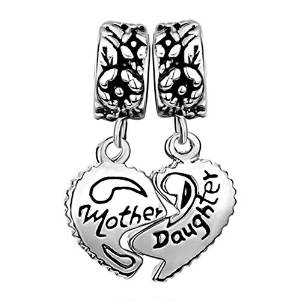 Pandora Endearing Mother And Daughter Heart Charm