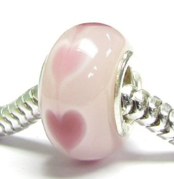 Pandora Endless Love Pink Heart Glass Charm