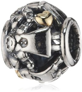 Pandora Family Forever Two Tone Heart Charm
