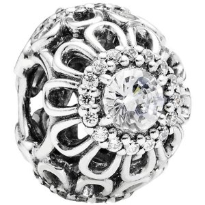 Pandora Floral Brilliance Clear Cz Charm