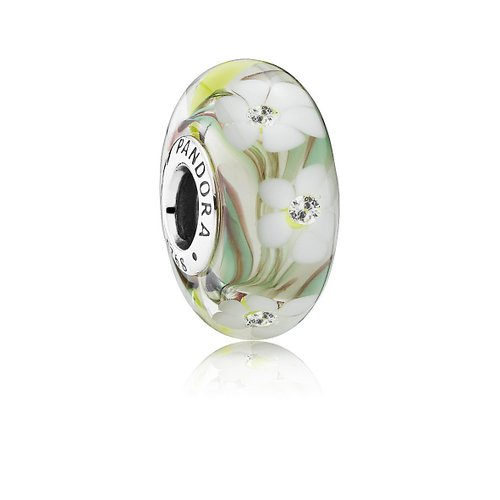 Pandora Flower Murano Glass Charm