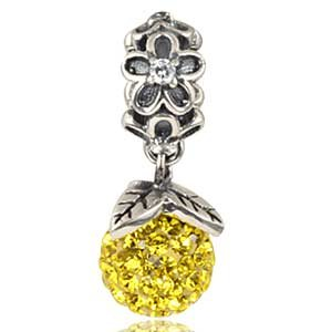 Pandora Forever Bloom Dangle Citrine Charm image