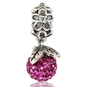 Pandora Forever Bloom Dangle Pink Swarovski Charm