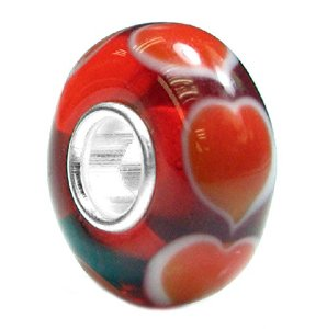 Pandora Forever Endless Love Red Heart Glass Charm