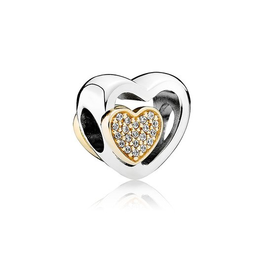 Pandora Forever Together Heart Swarovski Crystal Charm