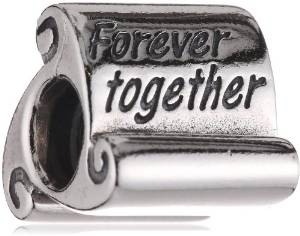 Pandora Forever Together Inscription Scroll Charm
