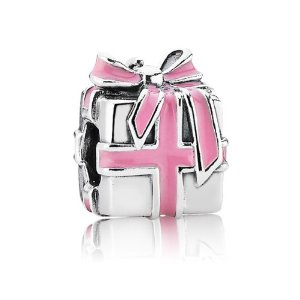 Pandora Gift Box With Ribbon Silver Charm