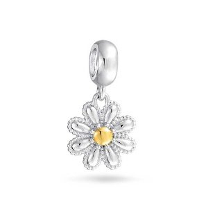 Pandora Gold Plated Daisy Flower Dangle Charm
