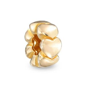 Pandora Gold Plated Heart Spacer Charm