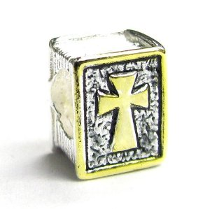 Pandora Gold Plated Holy Bible Cross Charm