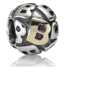 Pandora Gold Plated Letter B Charm