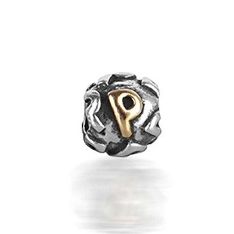 Pandora Gold Plated Letter P Screw Core Charm