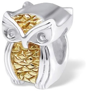 Pandora Gold Plated Owl Charm