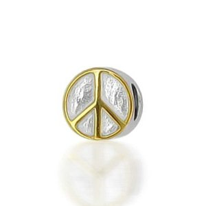 Pandora Gold Plated Peace Sign Charm