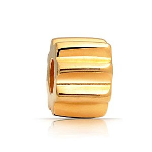 Pandora Gold Plated Ridged Spacer Charm