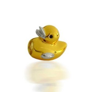 Pandora Gold Plated Rubber Ducky Charm