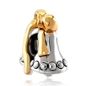 Pandora Golden Bells Bow Charm