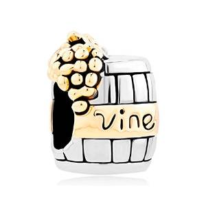 Pandora Golden Grap Wine Barrel Charm