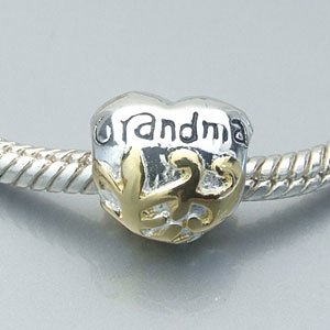 Pandora Grandma Heart Sterling Silver Charm smaller image
