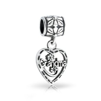 Pandora Grandma Vintage Heart Dangle Charm