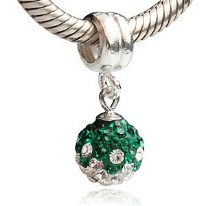 Pandora Green And Clear CZ May Birthstone Charm