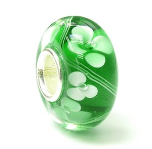 Pandora Green Glass Flower Charm