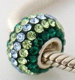 Pandora Green Stripe Mix Swarovski Crystal Charm