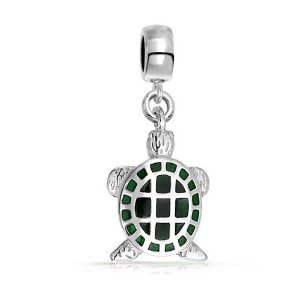 Pandora Green Turtle Dangle Charm image