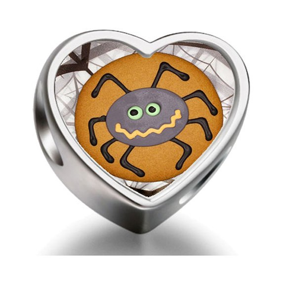 Pandora Halloween Spider Biscuit Heart Photo Charm